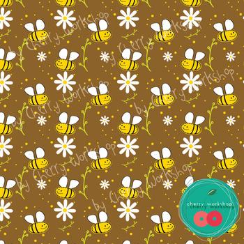 Bees Digital Paper