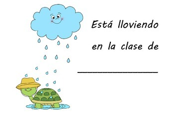 Its raining class book in Spanish