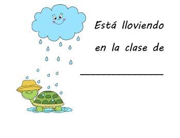 Its raining class book in Spanish