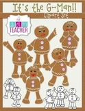 It's the G-Man: Gingerbread Man Clip Art Set