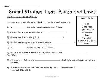 It's the Law! 2nd Grade Social Studies Government Unit by ...
