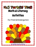 It's turkey time Thanksgiving Math and Literacy activities