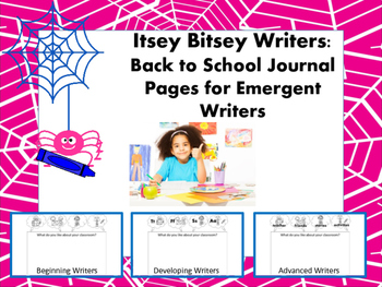 Itsey Bitsey Writers - Back to School Journal Pages