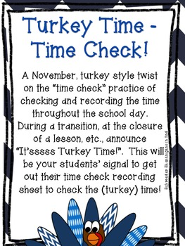 It'ssss Turkey Time! - Time Check November