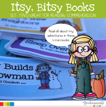 Itsy Bitsy Books Set Two-Comprehension for younger students