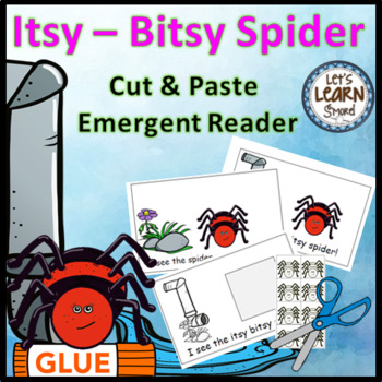 Itsy Bitsy Spider Emergent Reader, Spiders, Positional Wor