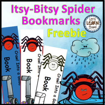 Spiders, Spiders Activities, Free  Bookmarks