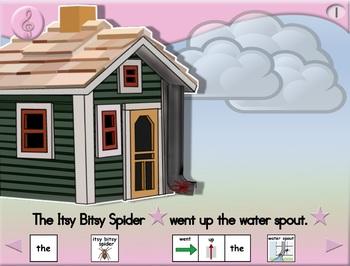 Itsy Bitsy Spider - Animated Step-by-Step Song - SymbolStix