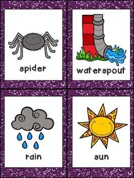 Itsy Bitsy Spider Book, Poster, and MORE - Preschool Kindergarten Nursery Rhymes