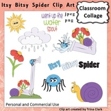 Itsy Bitsy Spider Clip Art - Color - pers & comm use Nursery Rhyme T Clark