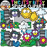Itsy Bitsy Spider Clipart {Nursery Rhymes Clipart}