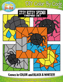 Itsy Bitsy Spider Color By Code Clipart {Zip-A-Dee-Doo-Dah Designs}
