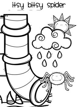 Itsy Bitsy Spider Coloring Sheet