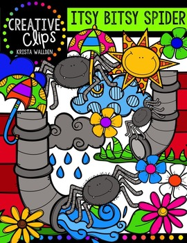Itsy Bitsy Spider {Creative Clips Digital Clipart}