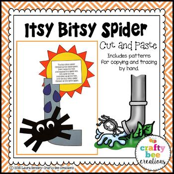 Itsy Bitsy Spider Cut and Paste