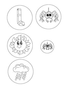 Itsy Bitsy Spider- DIY Printable Felt Board, Stick Puppet,