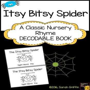 Sight Word Reader - Itsy Bitsy Spider - BW