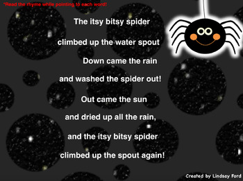Itsy Bitsy Spider Flipchart Activity *FREEBIE*