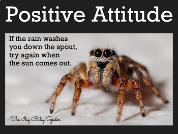 Itsy Bitsy Spider Growth Mindset Poster FREE