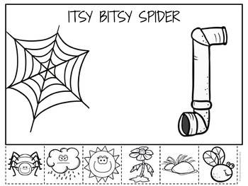 Itsy Bitsy Spider Coloring page | Free Printable Coloring Pages ... | 263x350