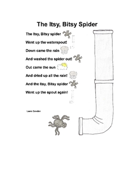 Itsy Bitsy Spider Interactive Circle Time Poem & Story Pieces - Autism