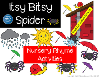 Itsy Bitsy Spider Language Activities, NO Print - Teletherapy