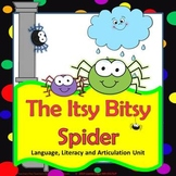 Itsy Bitsy Spider Speech Therapy Language & Articulation Unit.
