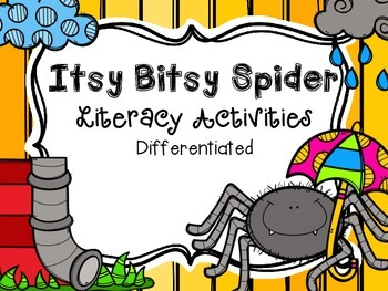 Itsy Bitsy Spider Literacy Activities