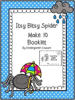 Itsy Bitsy Spider Make 10 Ten Frame Booklet