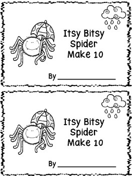 Itsy Bitsy Spider Make 10 Ten Frame Booklet