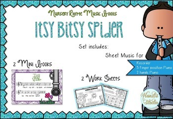 Itsy Bitsy Spider Music Book (Incy Wincy Spider)