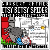 Itsy Bitsy Spider Nursery Rhyme Printable Activities