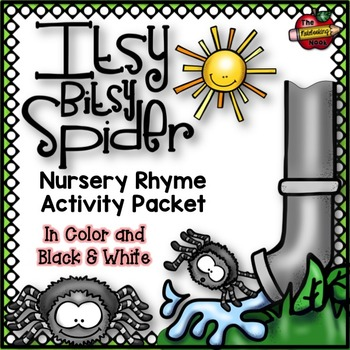 Itsy Bitsy Spider Nursery Rhyme Activity Packet