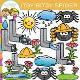 Itsy Bitsy Spider Clip Art: Nursery Rhyme Clip Art