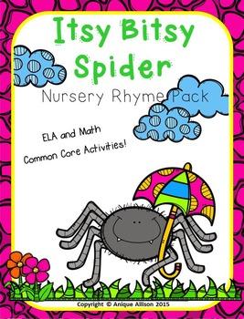 Itsy Bitsy Spider Nursery Rhyme Pack!