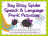 Itsy Bitsy Spider Speech & Language Pre-K Activities