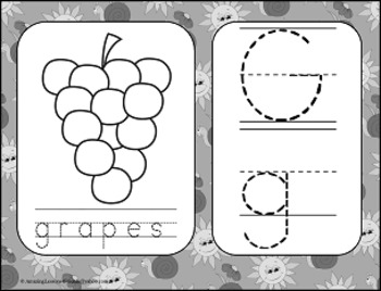 Itsy Bitsy Spider Theme Alphabet Tracing Cards