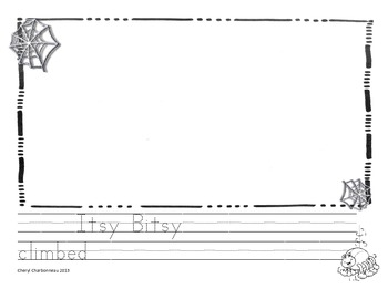 Itsy Bitsy Spider Writing Prompt