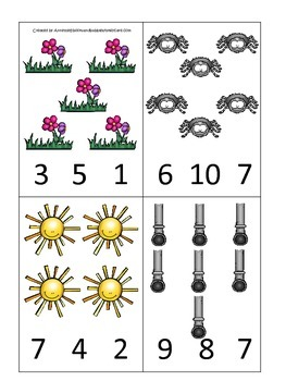 Itsy Bitsy Spider themed Count and Clip Cards child math curriculum.  Daycare.