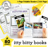 Itty Bitty Books Bundle (80 Nonfiction Foldable Readers)