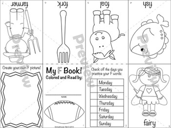Itty-Bitty Books for Articulation Practice - F, V set