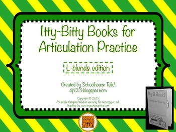 Itty-Bitty Books for Articulation Practice - L-Blends set