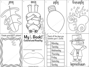 Itty-Bitty Books for Articulation Practice - L set