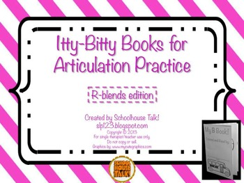 Itty-Bitty Books for Articulation Practice - R-Blends set