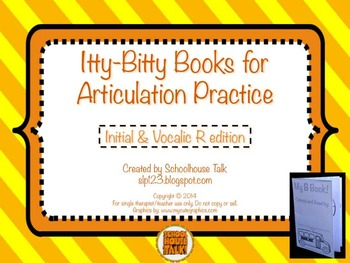 Itty-Bitty Books for Articulation Practice - R and Vocalic R set