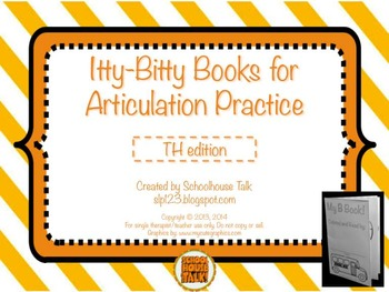 Itty-Bitty Books for Articulation Practice - TH set