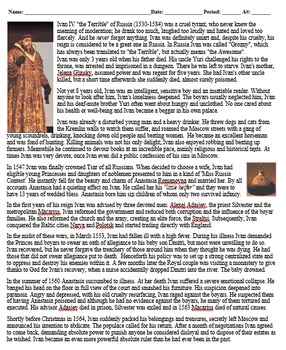 """Ivan IV """"The Terrible"""" of Russia Biography"""