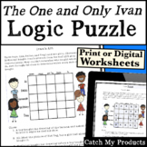 The One and Only Ivan Logic Puzzle for Gifted and Talented Learners - Ivan's Art