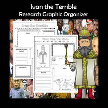Ivan the Terrible Biography Research Graphic Organizer