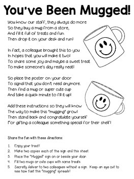 You've Been Mugged! ~ A Great Staff Morale Booster ...